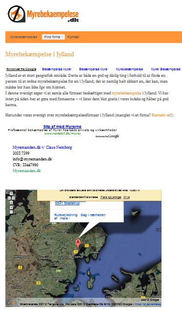 myrer og google maps