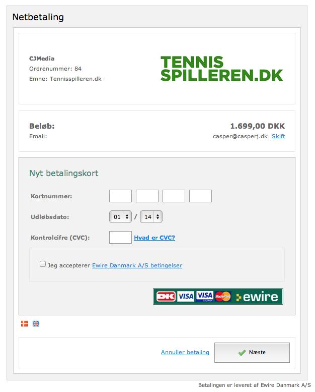 tennisspilleren ewire