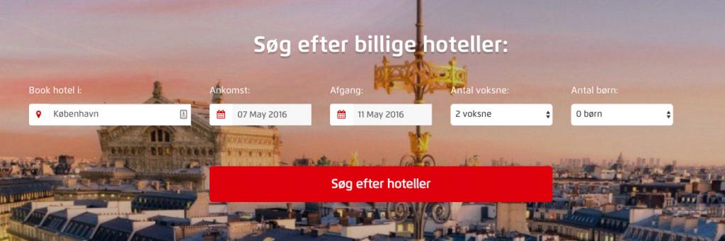 søg efter billige hoteller